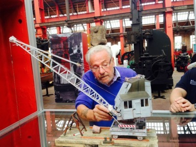 Bob with model crane