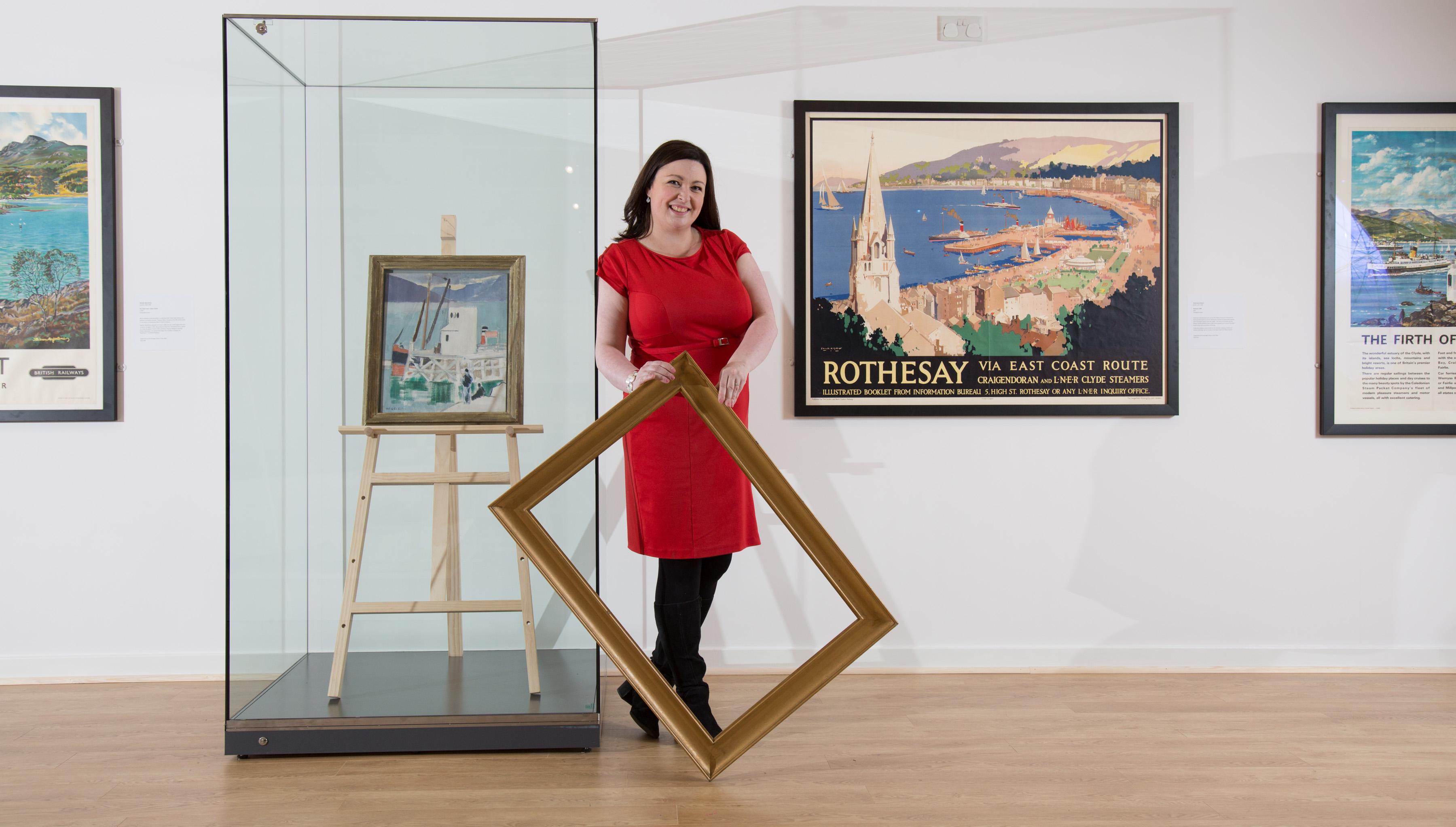 Fiona Carmichael with artwork